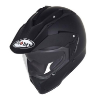 Casco moto enduro Suomy Mx Tourer Mono nero opaco