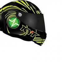 Casco Integrale KYT Thunderflash Spark yellow in fibra