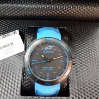 OROLOGIO ALPINESTARS TECH WATCH 3H SILICON STRAP AZZURRO BLUE MOTO SCOOTER FORMULA1 MOTOGP