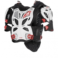 Pettorine moto cross Alpinestars A-10 FULL CHEST PROTECTOR WHITE BLACK RED