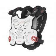 Protezione Alpinestars A-1 ROOST GUARD WHITE BLACK RED