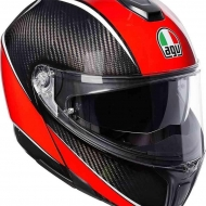 Casco Modulare AGV SPORTMODULAR AERO CARBON RED NEW MULTI