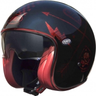 CASCO PREMIER VINTAGE NX RED CHROMED FIBRA CAFE RACER SCRAMBLER CHOPPER CUSTOM
