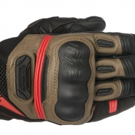 GUANTI ALPINESTARS HIGHLANDS GLOVES PELLE ROAD RIDING TOUCH BLACK TOBACCO BROWN RED