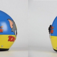 CASCO BIMBO JET BHR Tom and Jerry VISIERA LUNGA LEGGERO MOTO SCOOTER