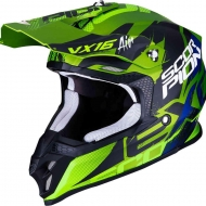 CASCO MOTO CROSS ENDURO SUPERMOTARD SCORPION VX 16 AIR ALBION MATT BLACK GREEN