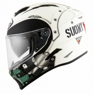 Casco integrale moto Suomy Stellar Cyclone helmet casque white matt pinlock