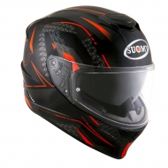 Casco integrale moto Suomy Stellar Shade helmet casque black red pinlock