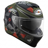 Casco integrale moto Suomy Stellar wrench matt green/grey helmet casque pinlock