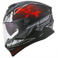 Casco integrale moto Suomy Stellar Phantom matt red grey pinlock sport touring