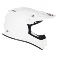 CASCO OFF ROAD MOTO CROSS SUOMY MR JUMP PLAIN BIANCO TRICARBOCO FIBRA
