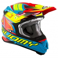 CASCO OFF ROAD MOTO CROSS SUOMY MR JUMP START CYAN FUXIA TRICARBOCO FIBRA