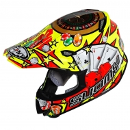 CASCO OFF ROAD MOTO CROSS SUOMY MR JUMP JACKPOT YELLOW TRICARBOCO FIBRA