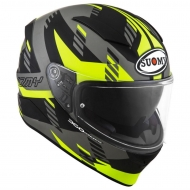 Casco integrale suomy speedstar Flow Matt Yellow Fluo Grey in fibra