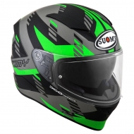 Casco integrale suomy speedstar Flow Matt Green Fluo Black fibra