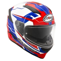 Casco integrale suomy speedstar Camshaft Blue White Red in fibra