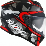 CASCO INTEGRALE MOTO SUOMY STELLAR RACE SQUAD MATT RED PINLOCK SPORT TOURING