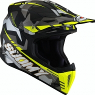 CASCO OFF ROAD MOTO CROSS FUORISTRADA SUOMY X-WING CAMOFLAGE MATT YELLOW