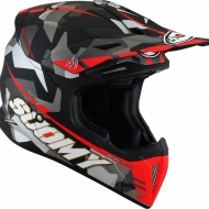 CASCO OFF ROAD MOTO CROSS FUORISTRADA SUOMY X-WING CAMOFLAGE MATT RED
