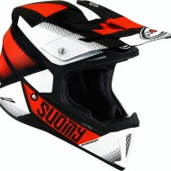 CASCO OFF ROAD MOTO CROSS FUORISTRADA SUOMY X-WING GRIP BLACK ORANGE