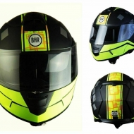 CASCO MODULARE MOTO SCOOTER BHR 805 POWER NERO/GIALLO