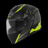 CASCO MODULARE ORIGINE DELTA LEVEL MATT FLUO YELLOW-BLACK MOTO SCOOTER BLUETOOTH