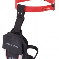 ALPINESTARS BORSA BORSELLO DA GAMBA NERO/ROSSO ACCESS THIGH BAG